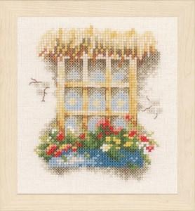 Изображение Окно с цветами 2 (Window with flower)