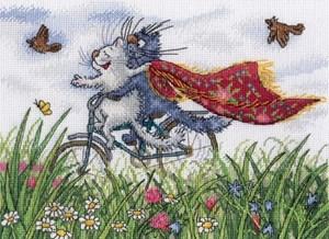 Изображение Взлетая над полем ромашек
