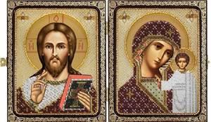 Изображение Христос Спаситель и Пресвятая Богородица Казанская
