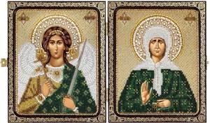 Изображение Святая Православная старица Матрона Московская и Ангел Хранитель