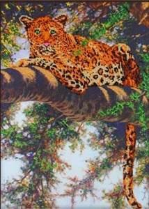 Изображение Леопард на дереве