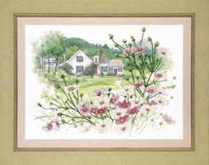 Изображение Домик с цветами