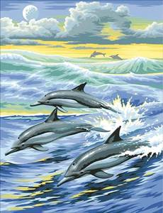 Изображение Семья дельфинов