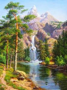Изображение Горный водопад