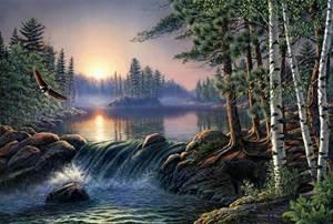 Изображение Над быстрой рекой