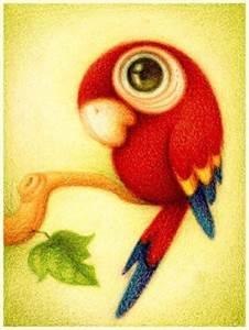 Изображение Красный попугай