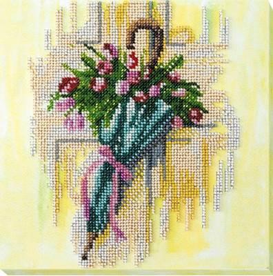 Изображение Зонтик и тюльпаны