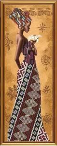 Изображение Африканка с лилией