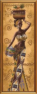 Изображение Африканка с фруктами