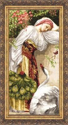 Изображение Девушка с лебедем