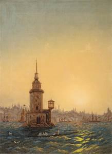 Изображение Вид Леандровой башни в Константинополе