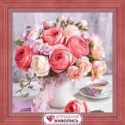 Изображение Пионы и розы