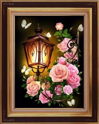 Изображение Фонарь в розах