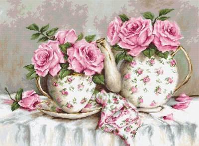 Изображение Утренний чай и розы