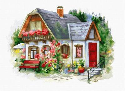 Изображение Красивый загородный домик