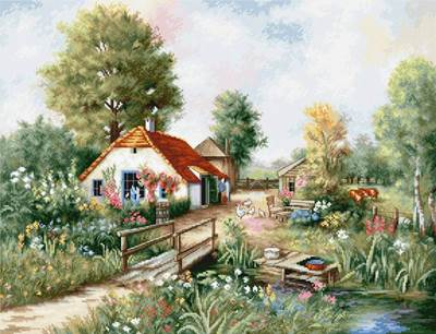 Изображение Деревенский пейзаж
