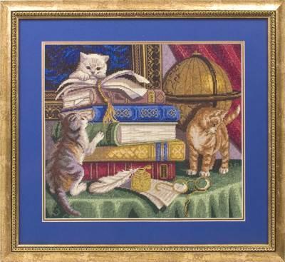 Изображение Котята с книгами