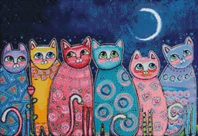 Изображение Разноцветные коты