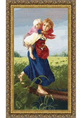 Изображение Дети, бегущие от грозы
