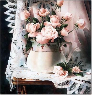 Изображение Розы в кувшине