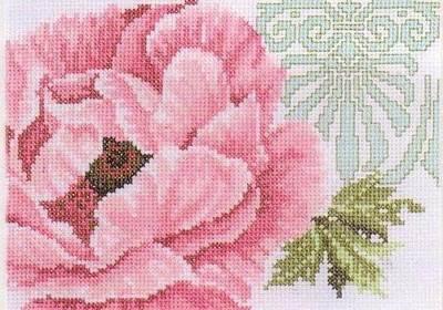 Изображение Розовый цветок с орнаментом (Pink flower with ornament)