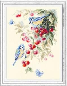 Изображение Синицы и вишня