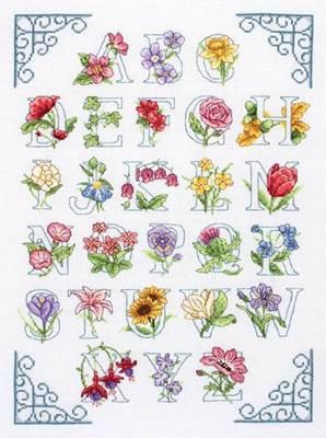 Изображение Цветочный алфавит (Floral Alphabet)