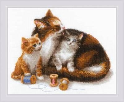 Изображение Кошка с котятами