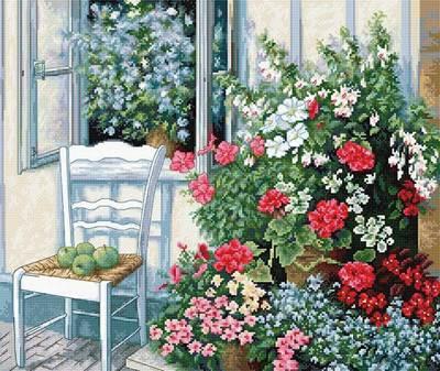 Изображение Терраса с цветами