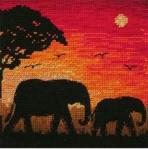 Изображение Силуэт слона (Elephant Silhouette)