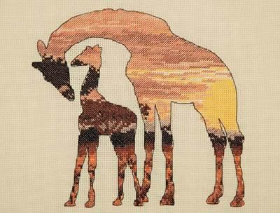 Изображение Силуэт жирафов (Giraffes Silhouette)