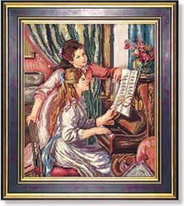 Изображение Девушки за фортепиано по картине П. Ренуара (Mädchen am Klavier)