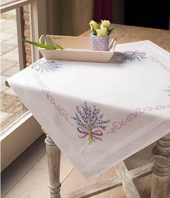 Изображение Лаванда Скатерть (Lavender Tablecloth)