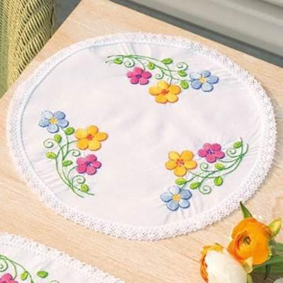 Изображение Разноцвеные цветы Салфетка (Colorful flowers)