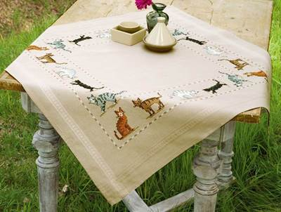 Изображение Разноцветные коты Скатерть (Cats of all Colours Tablecloth)