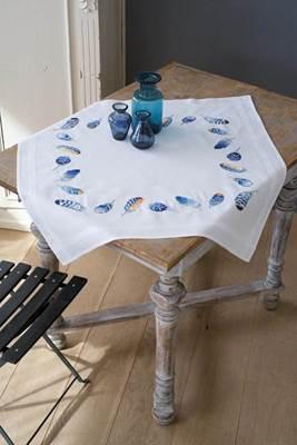 Изображение Синие перья Скатерть (Blue feathers Tablecloth)