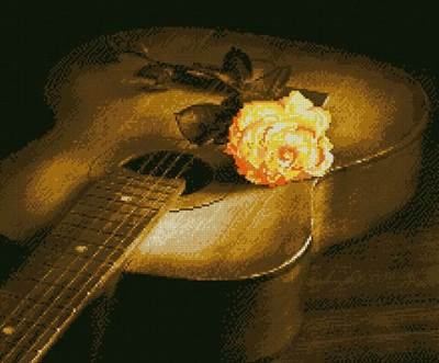 Изображение Гитара и роза