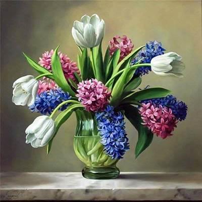 Изображение Тюльпаны в вазе