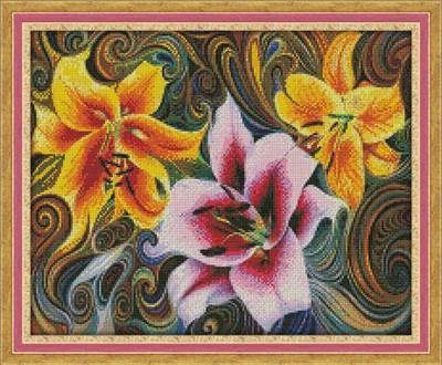 Изображение Три лилии