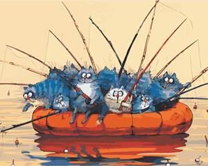 Изображение Котики на рыбалке