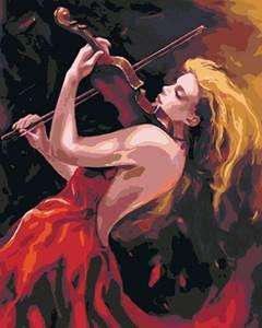 Изображение Девушка со скрипкой