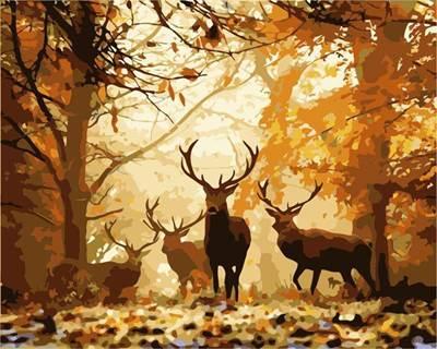 Изображение Олени в лесу