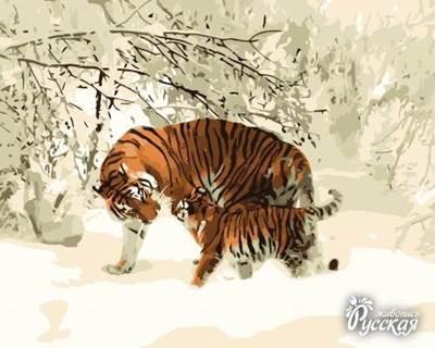 Изображение Тигрица с тигрёнком