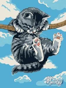 Изображение Котёнок на ветке