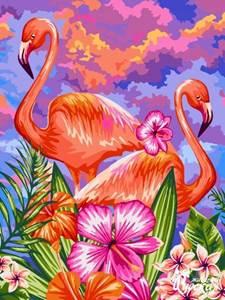 Изображение Яркие фламинго