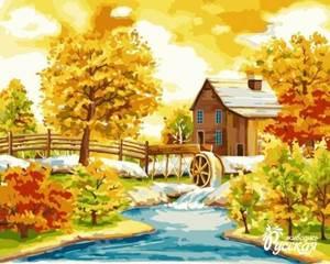 Изображение Домик с водяной мельницей