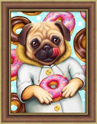 Изображение Мопс и пончики