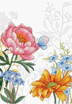 Изображение Цветы и бабочкa