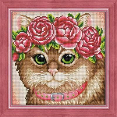 Изображение Кошка в веночке