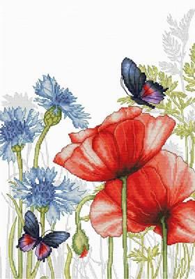 Изображение Маки и бабочки